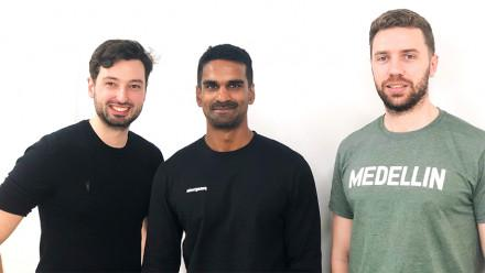 Lanterne Co-Founders Alex Barnes (left), Yohan Iddawela (middle) and Sebastian Mueller (right)